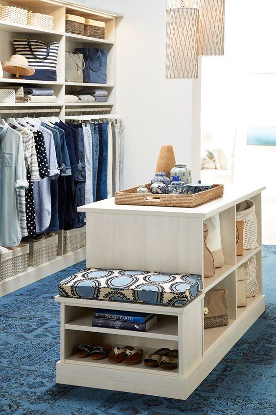 seaside inspired closet