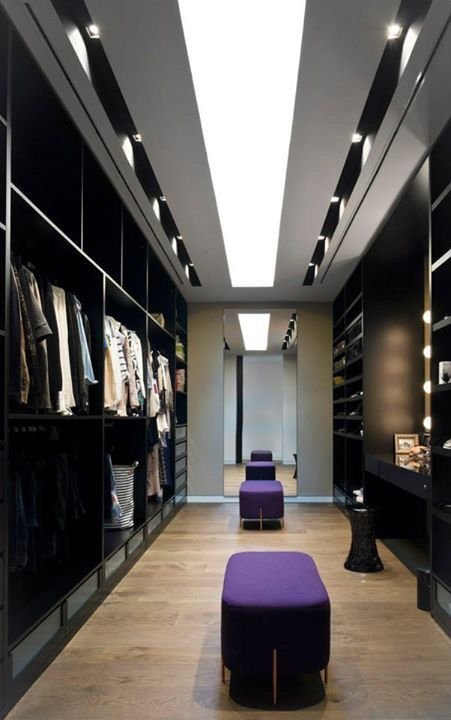 black stylish closet