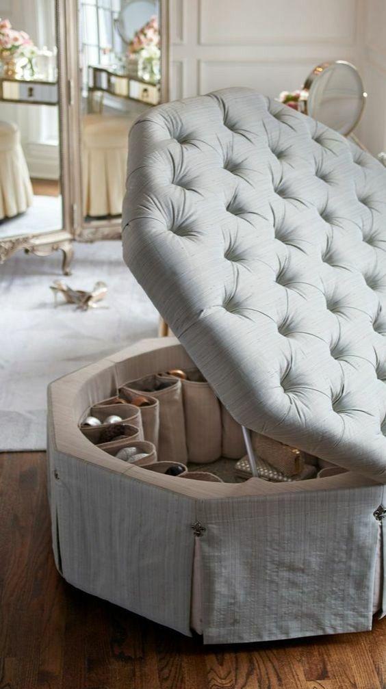 closet footstool storage