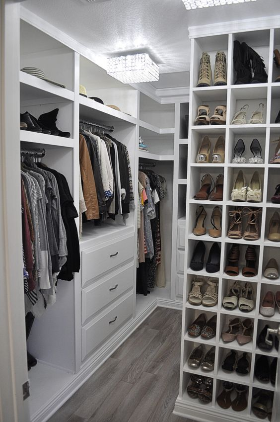 cosy organised closet
