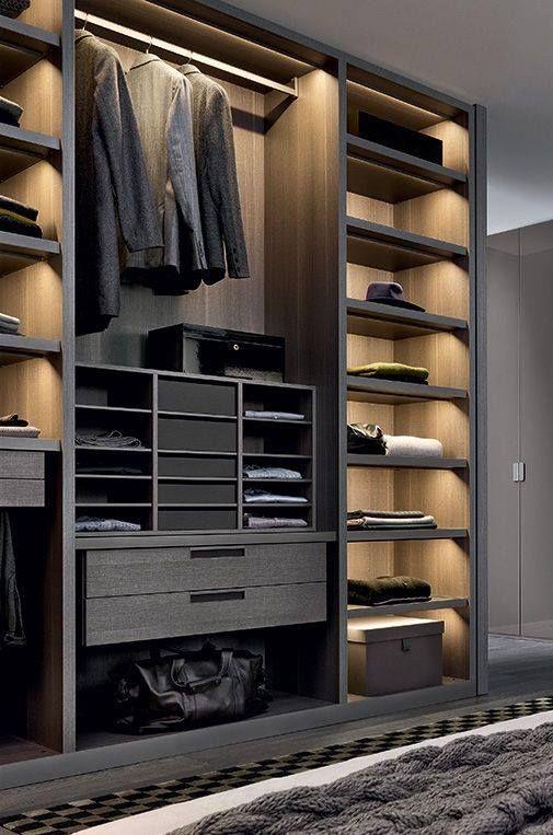 masculine closet design