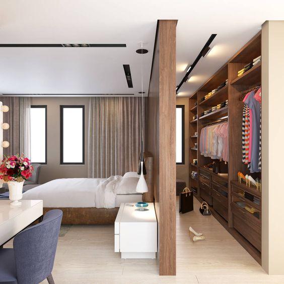 modern bedroom closet