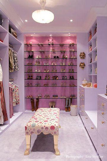 pink bedroom closet