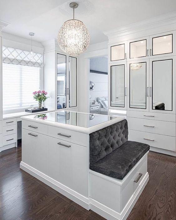 elegant white closet
