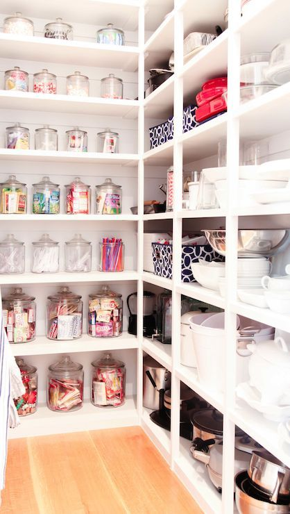 bright kitchen pantry