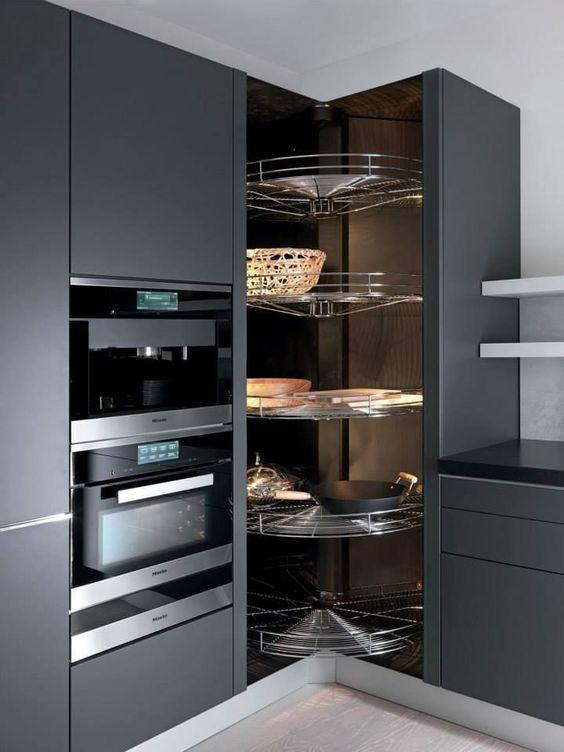 rotating shelves pantry