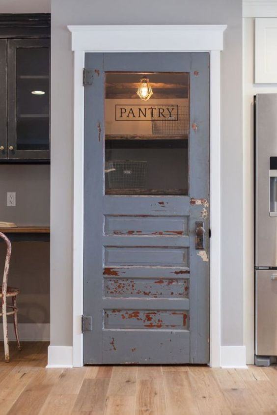 shabby chic pantry door