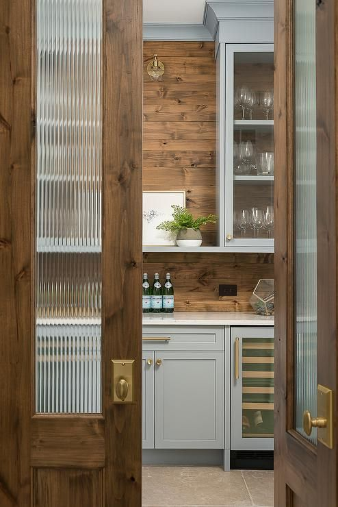 luxurious glass pantry