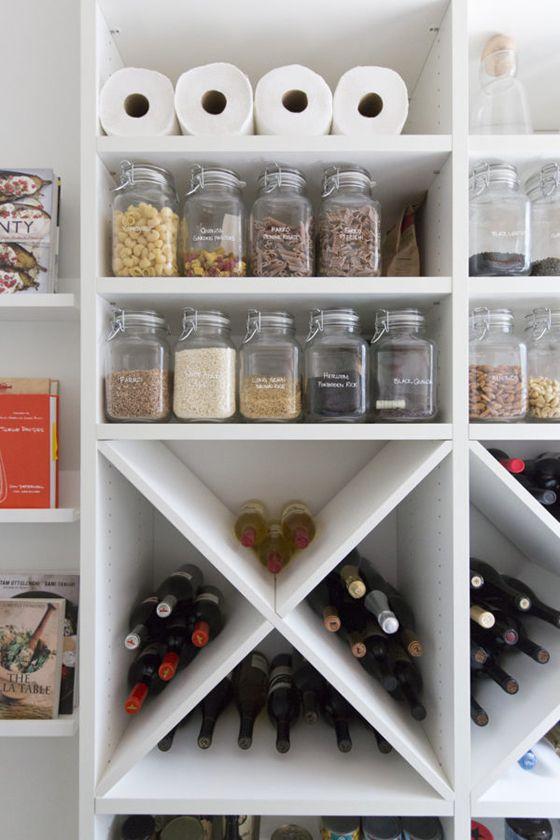 kitchen pantry shelves