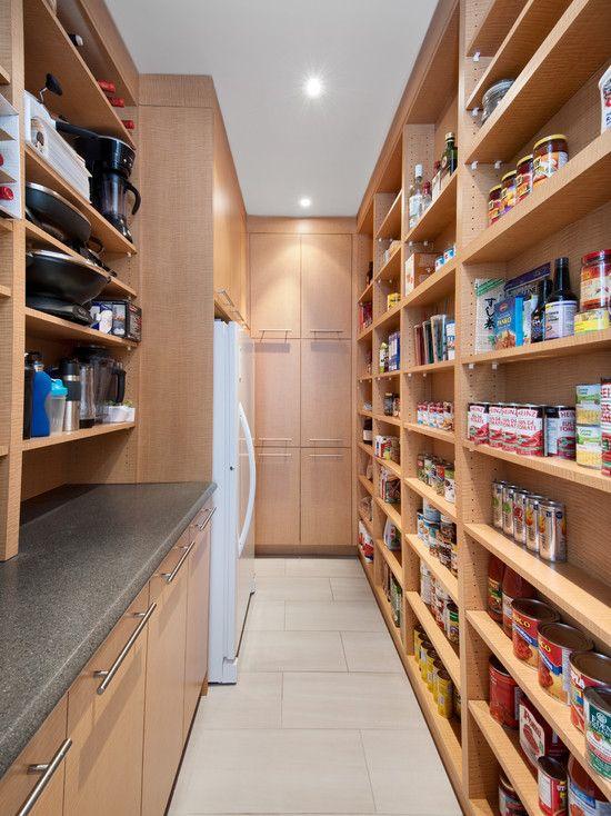 narrow pantry shelves
