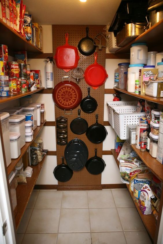 pantry with pegboard