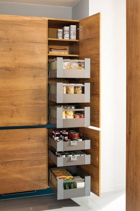 modern rustic pantry