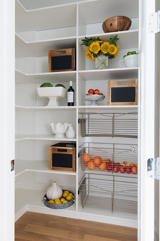 white basic pantry