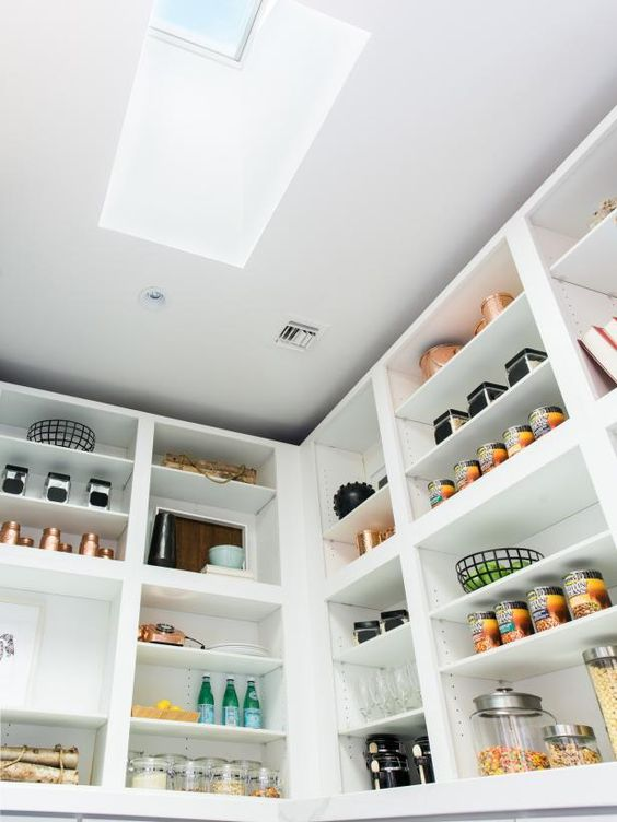 pantry with skylight