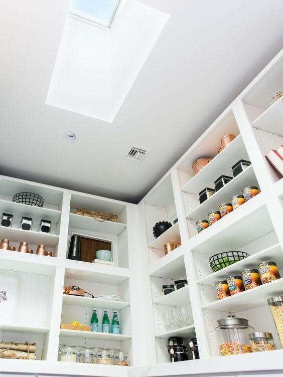 pantry with skylight
