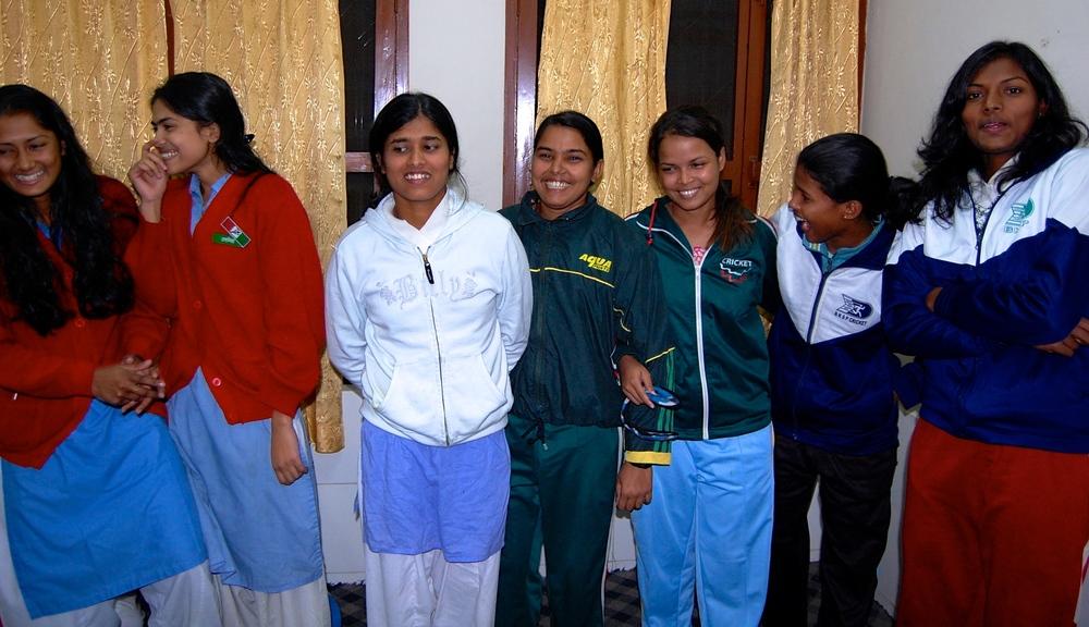 Visiting with girls at BKSP