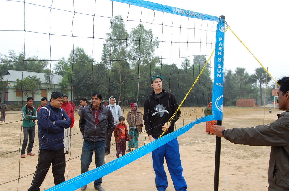 Volleyball in the village
