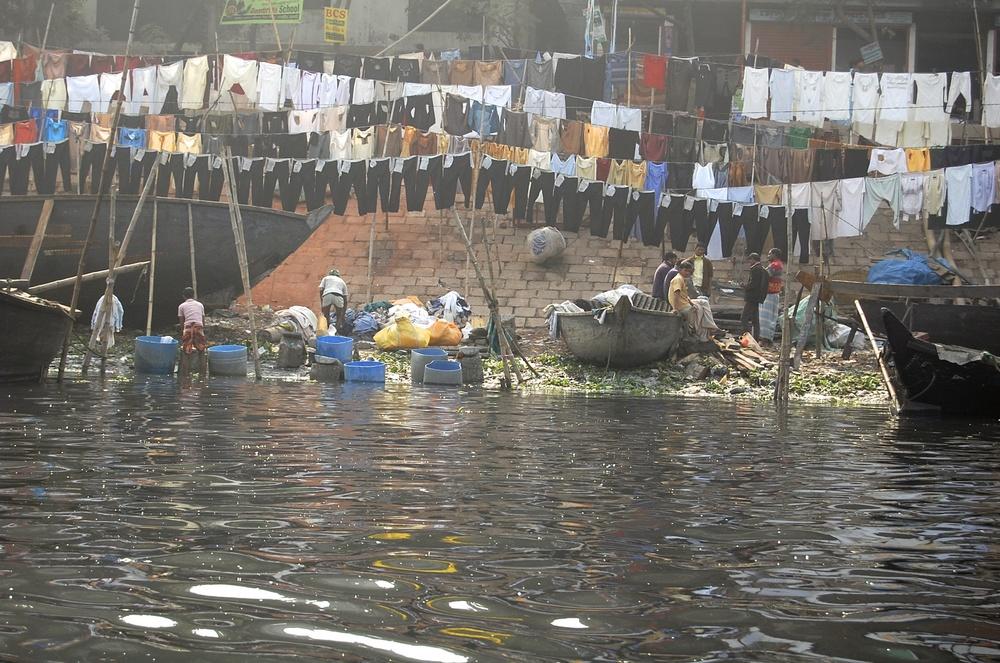 Designer Jeans drying in Dhaka