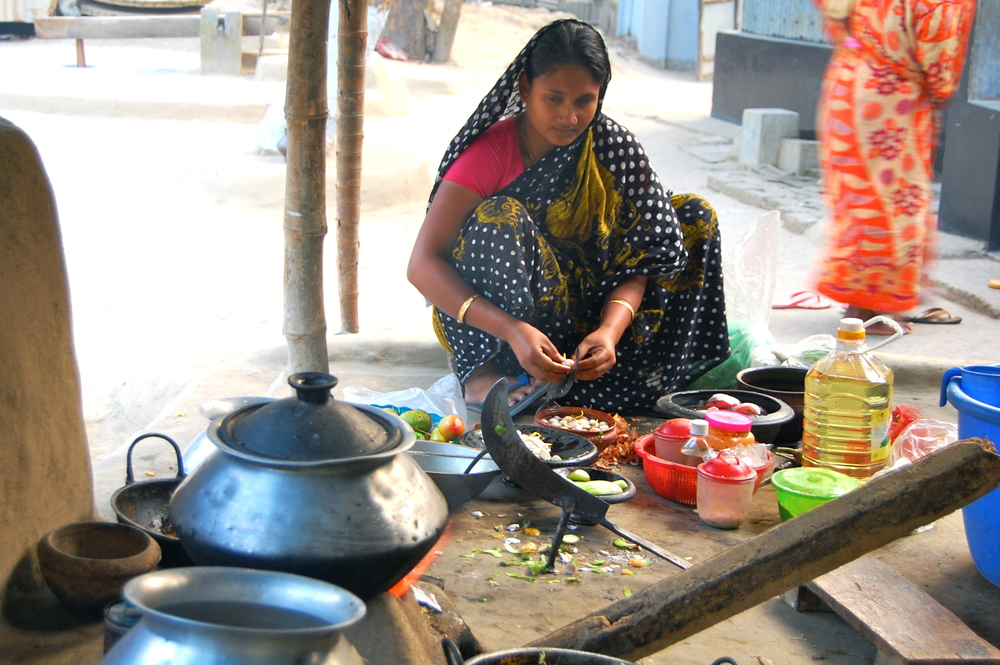 Cooking in the village