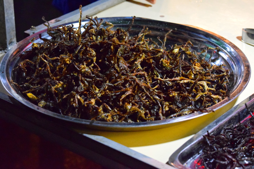 Local cuisine of insects
