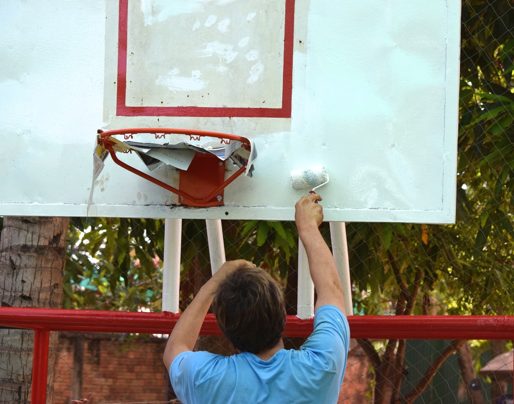 Painting the backboard