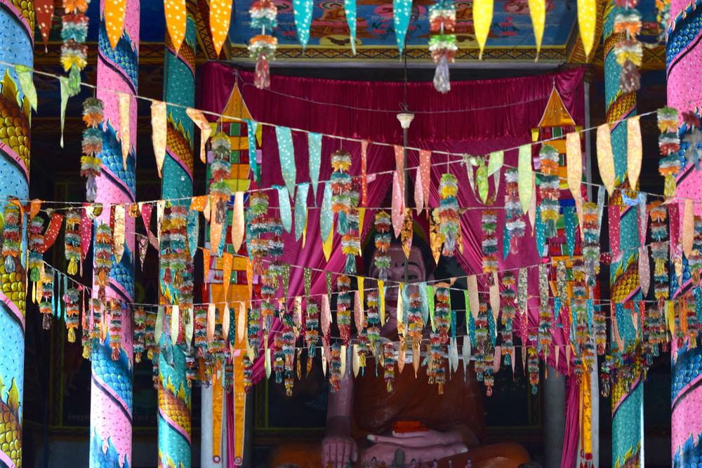 Inside a pagoda
