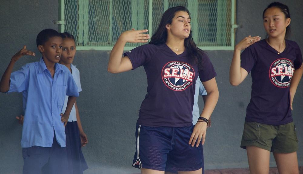 Dancing action