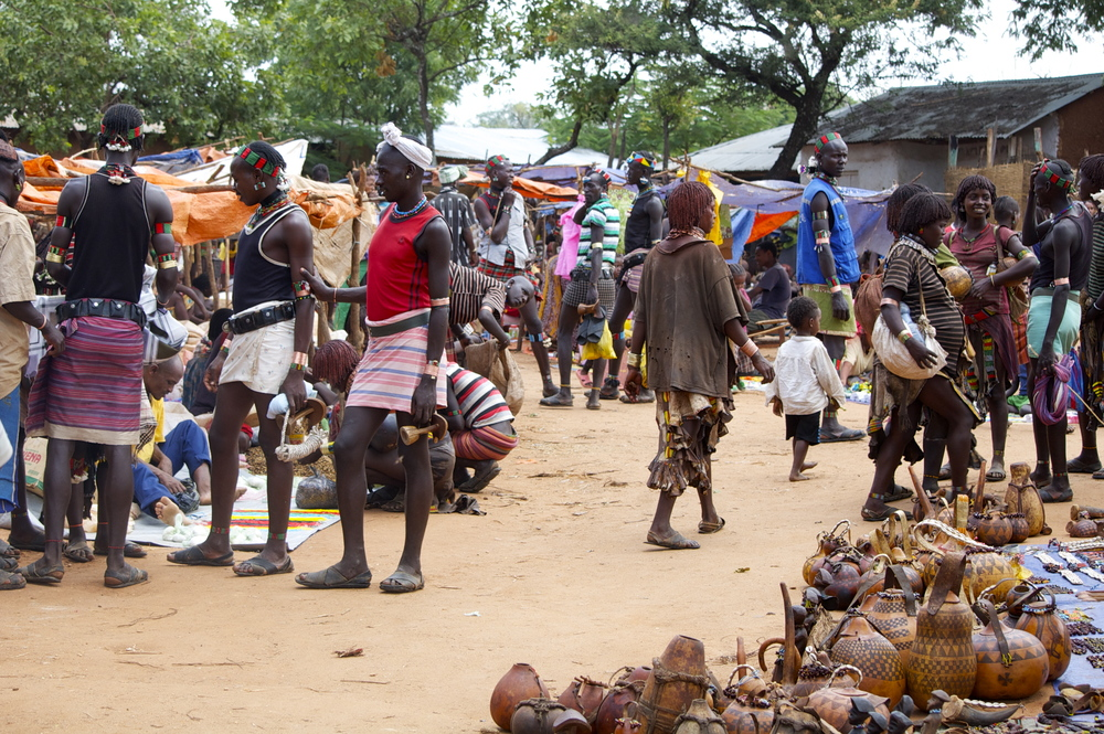 Another market in the Omo Valley