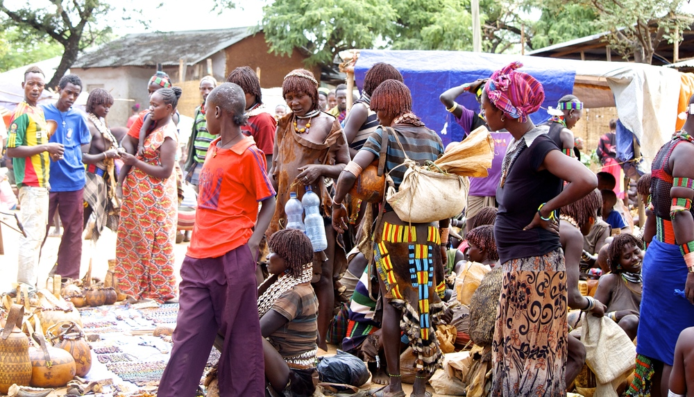 Women at the market place