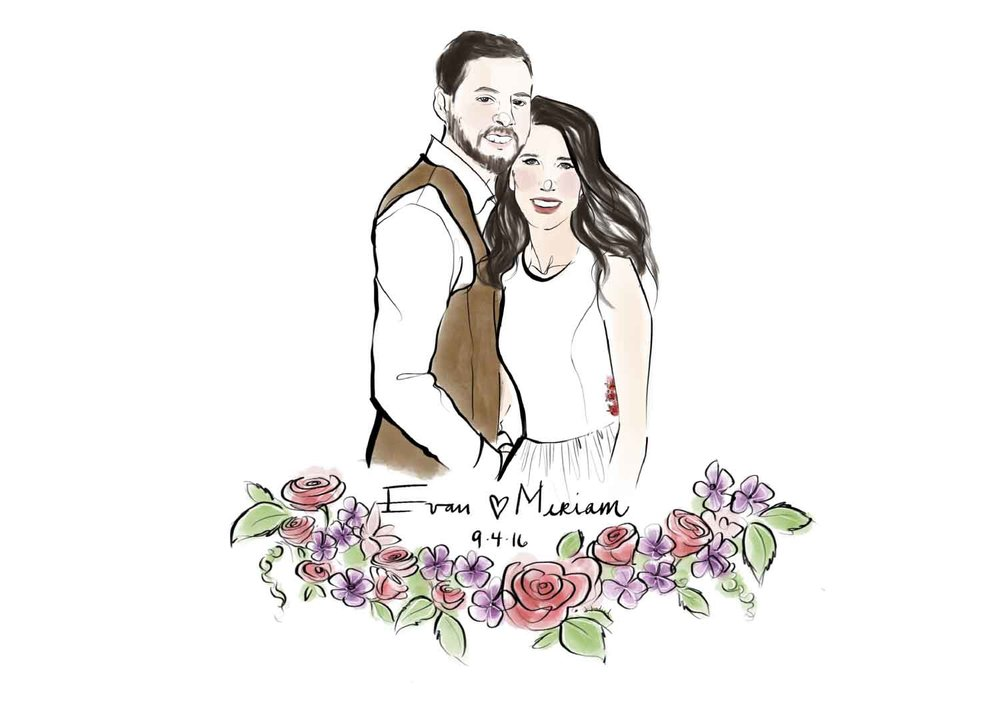 Custom Wedding Illustration