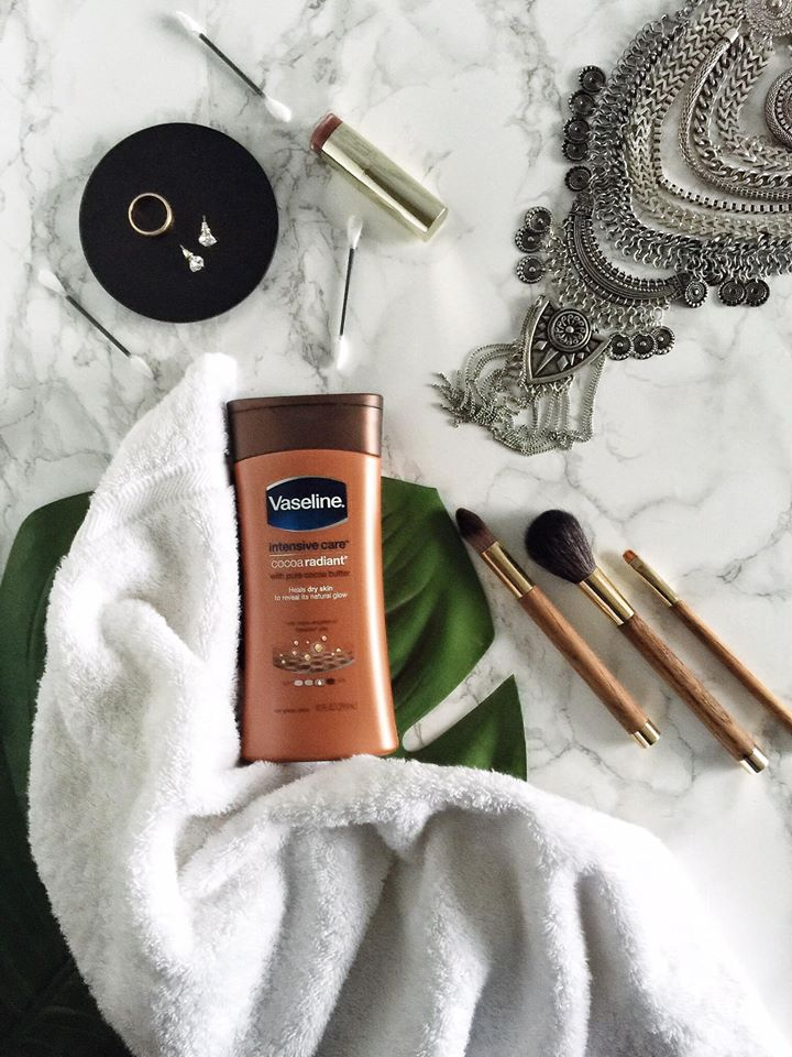 Winter Skin Care: Vaseline Intensive Care Cocoa Radiant by lifestyle blogger Destiney of MomCrushMonday