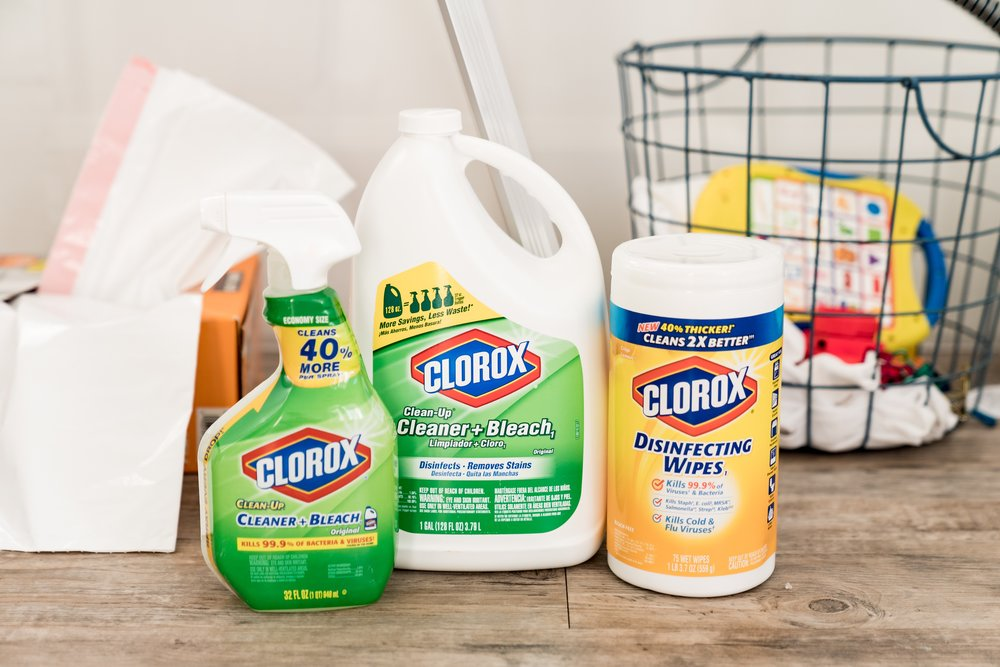 Top US lifestyle blog, Mom Crush Monday, shares their Top 3 Best Cleaning Tips: image of Clorox products