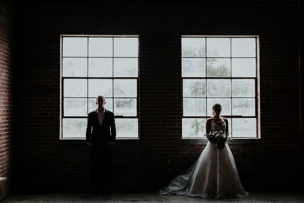 Romantic Industrial Bridal Shoot at the Hudson Wichita, KS