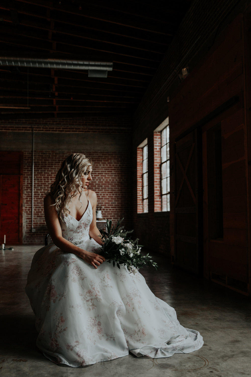 Moody bridal portrait session sets the tone for glamorous wedding in this styled shoot by Be Images Photography.