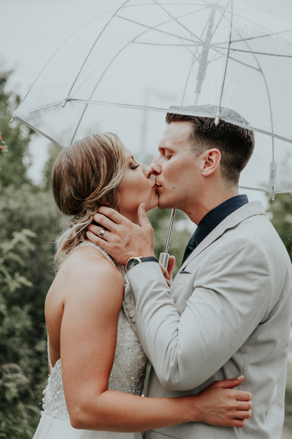 Modern, Rainy Wedding | Be Images