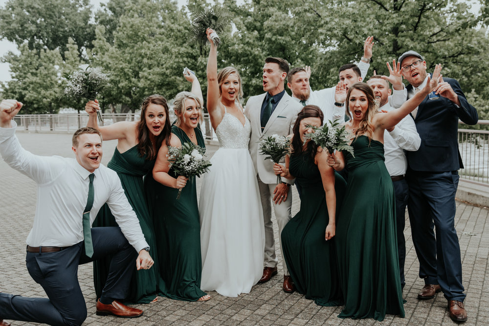 Be Images | full bridal party