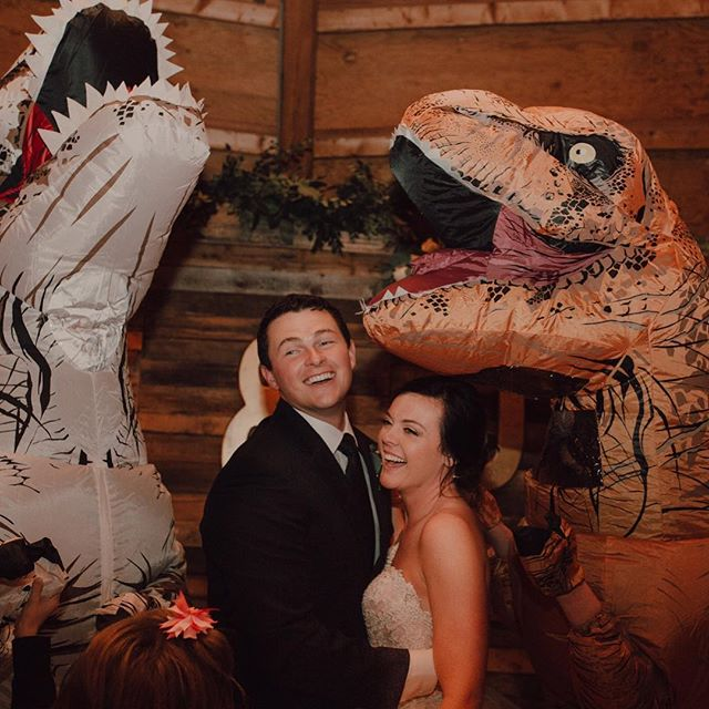 I think there should be more dinosaurs at weddings
