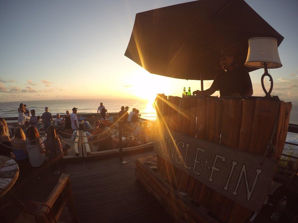 Single Fin in Uluwatu, the best bar in the world! (actually)