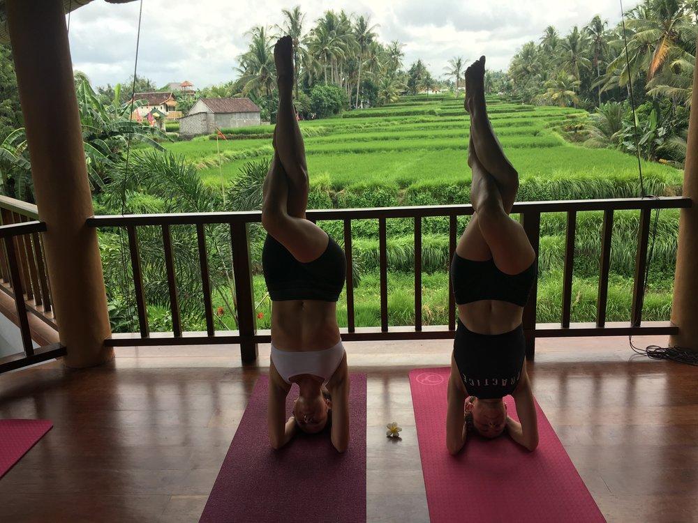 Dana and I at Ubud Yoga House