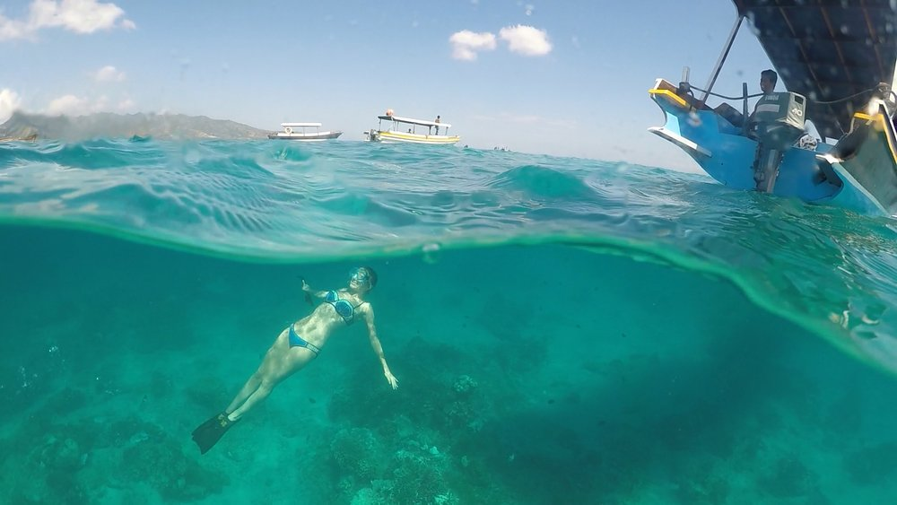 Gili Islands snorkeling and boating around all of the islands