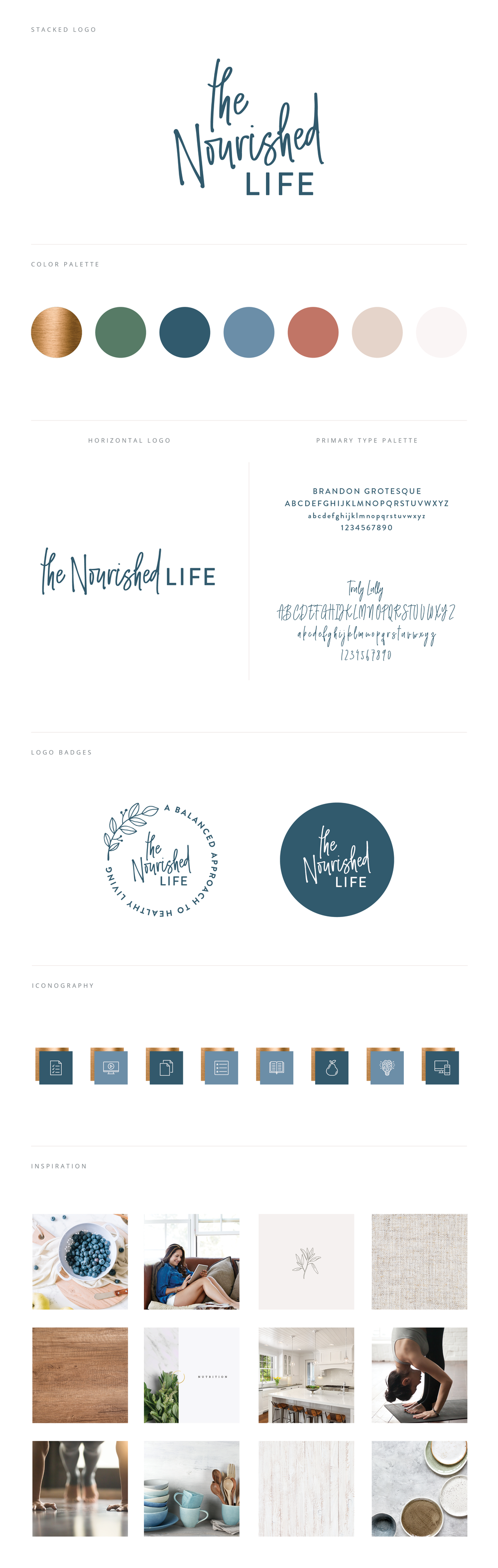 The Nourished Life Brand Board by Janessa Rae Design Creative