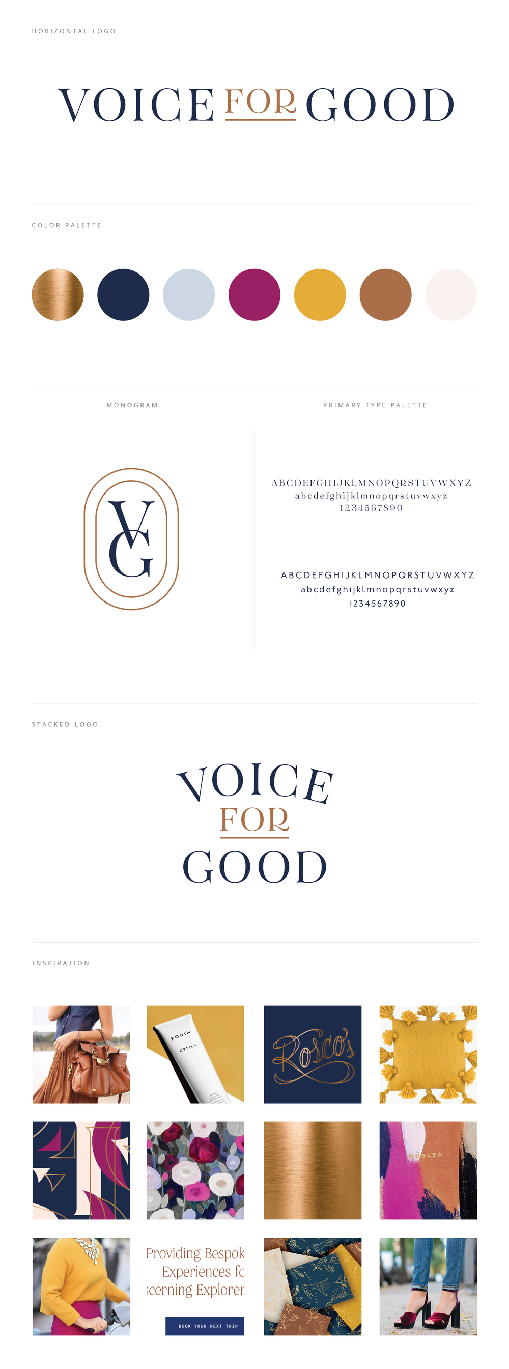 Voice for Good Brand Board by Janessa Rae Design Creative