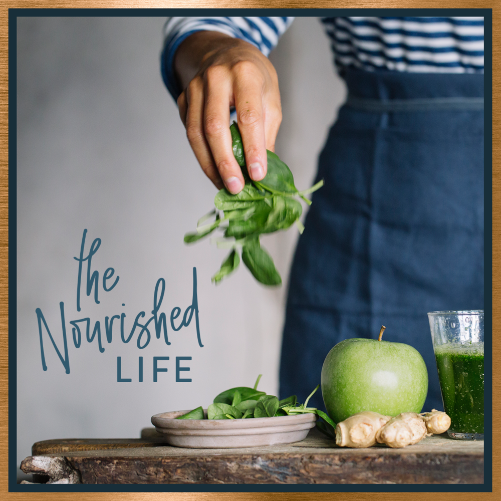 The Nourished Life e-course promo, designed by Janessa Rae Design Creative