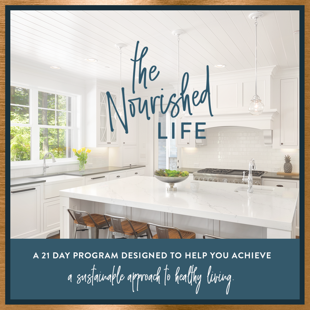 The Nourished Life e-course promo, designed by Janessa Rae Design Creative