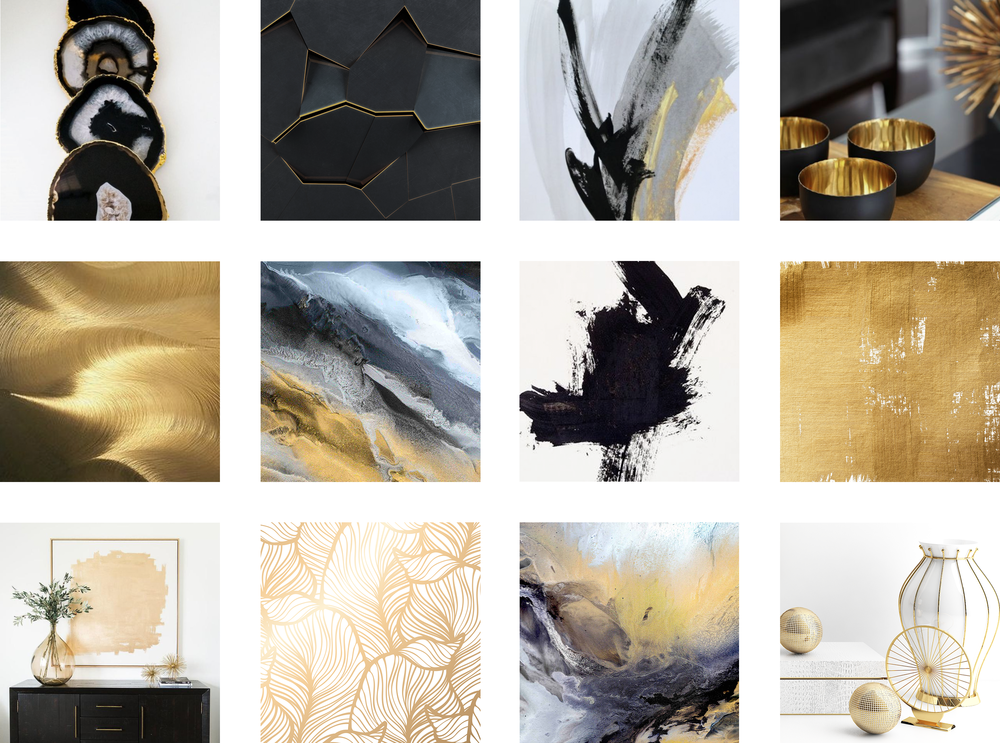 Moodboard for Alexis Bonavitacola Artist Collective, by Janessa Rae Design Creative