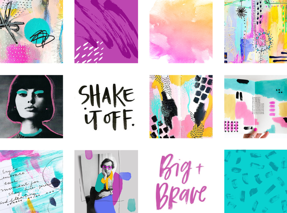 The Creative Badass Moodboard by Janessa Rae Design Creative