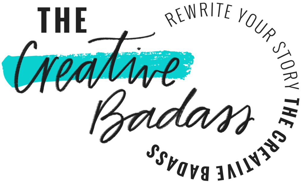 The Creative Badass Logo with Tagline by Janessa Rae Design Creative
