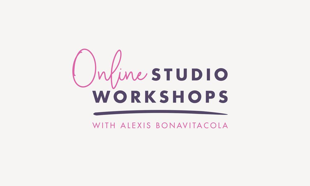 Online Studio Workshops with Alexis Bonavitacola Logo by Janessa Rae Design Creative