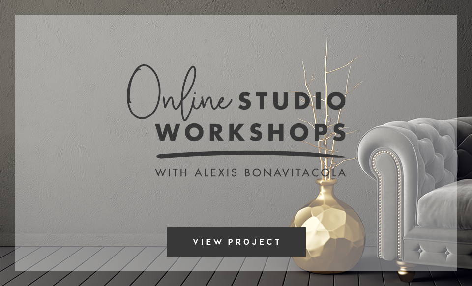 Online Studio Workshops with Alexis Bonavitacola - Design by Janessa Rae Design Creative