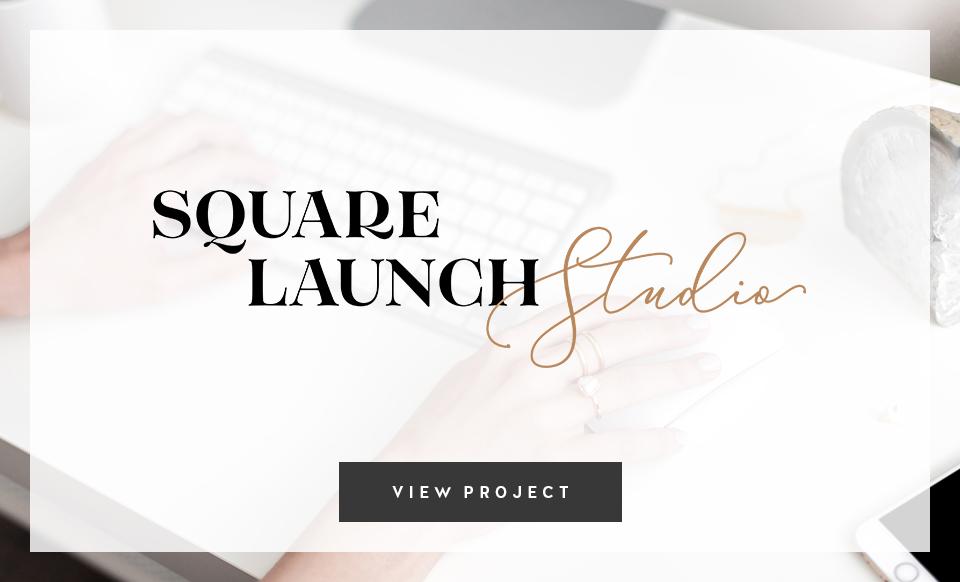 Square Launch Studio by Janessa Rae Design Creative